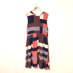 BODEN Chic Full Skirted Colorblock Dress SIze 18L